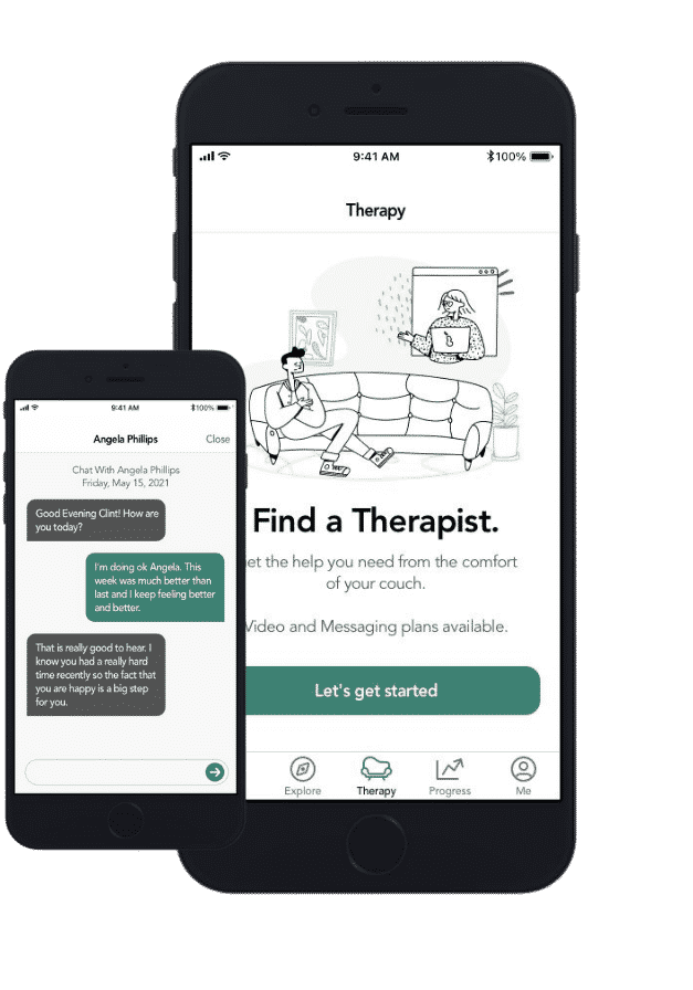 nobu teletherapy features screens